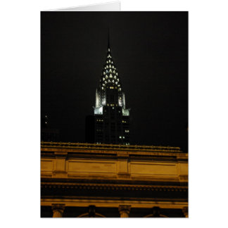 Chrysler Building Over Grand Central Greeting Card