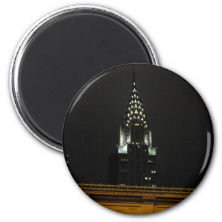 Chrysler Building Over Grand Central 2 Inch Round Magnet