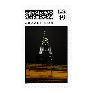 Chrysler Building Over Grand Central Stamp