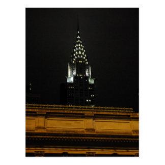 Chrysler Building Over Grand Central Postcard