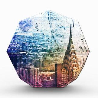 Chrysler Building - Paint Splattered - New York Acrylic Award