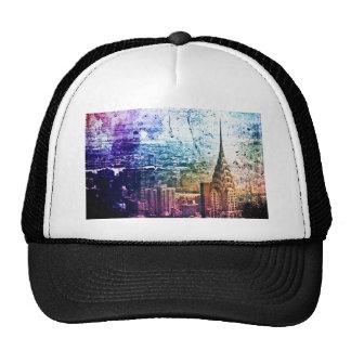 Chrysler Building - Paint Splattered - New York Trucker Hat