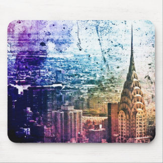 Chrysler Building - Paint Splattered - New York Mouse Pad