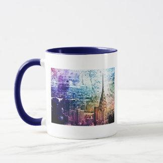 Chrysler Building - Paint Splattered - New York Mug