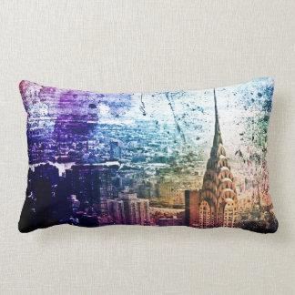 Chrysler Building - Paint Splattered - New York Pillows