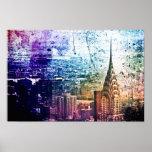 Chrysler Building - Paint Splattered - New York Poster
