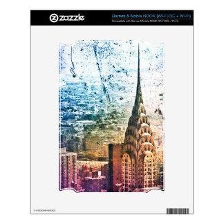 Chrysler Building - Paint Splattered - New York Skin For NOOK