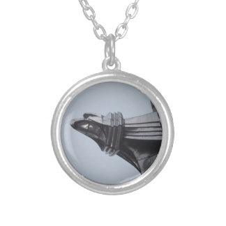 Chrysler Building Round Pendant Necklace