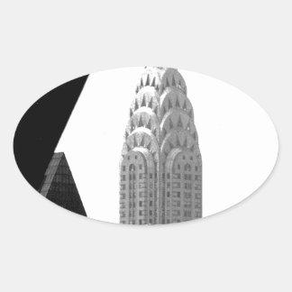 Chrysler Building Spire Oval Sticker
