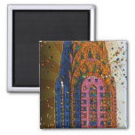 Chrysler Building Top Closeup #1 2 Inch Square Magnet