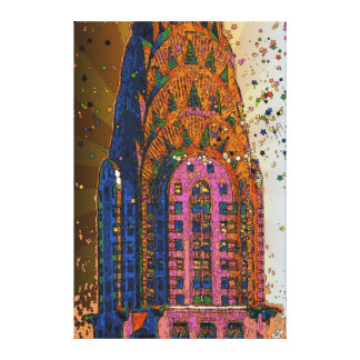 Chrysler Building Top Closeup #1 Canvas Print