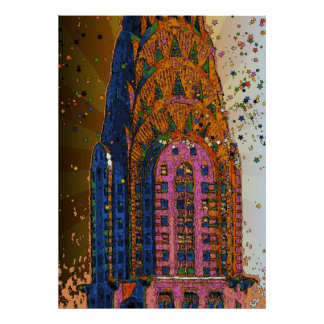 Chrysler Building Top Closeup #1 Poster