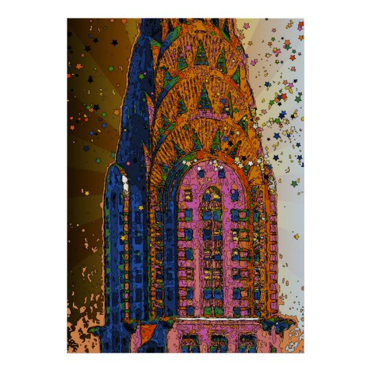 Chrysler Building Top Closeup #1 Poster