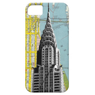 Chrysler Building with Map background iPhone SE/5/5s Case