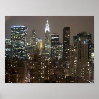 Chrysler Buuilding NYC Night Print