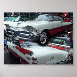 Chrysler classic vintage car  poster