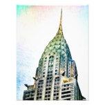 Chrysler que construye - congelado - New York City Fotografía
