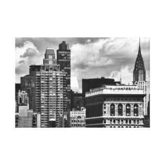 Chrysler que construye, edificio de Flatiron, casa Impresión De Lienzo