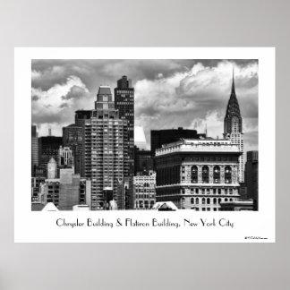 Chrysler que construye, edificio de Flatiron, casa Poster