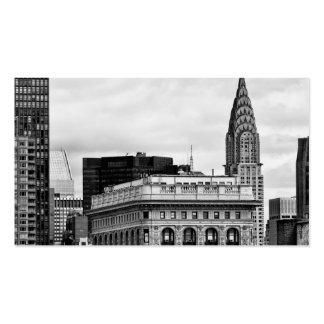 Chrysler que construye, Flatiron, se nubla B&W Tarjetas De Visita