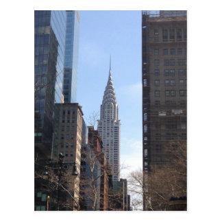Chrysler que construye las postales de NYC