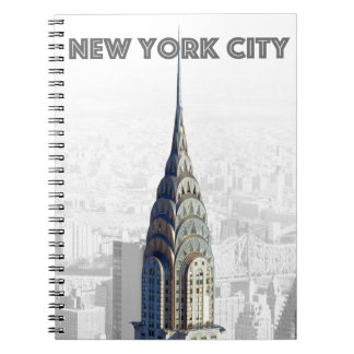 Chrysler que construye New York City Cuadernos