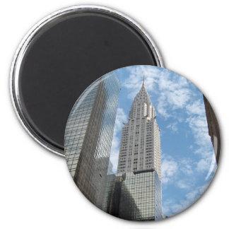 Chrysler que construye New York City Imán Redondo 5 Cm