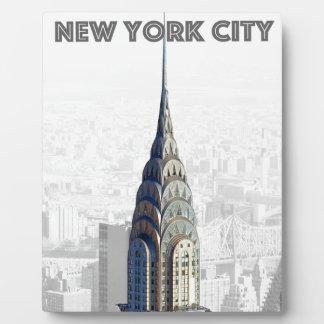 Chrysler que construye New York City Placas De Madera