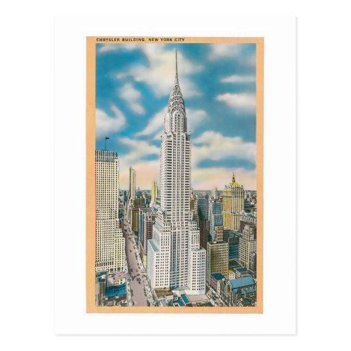 Chrysler que construye, New York City Tarjeta Postal