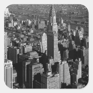 Chrysler que construye Nueva York Manhattan Pegatina Cuadrada
