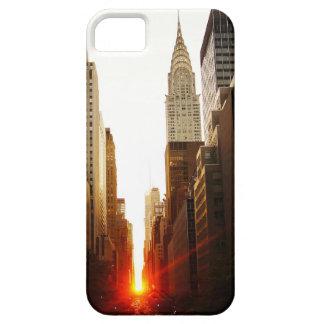 Chrysler que construye puesta del sol iPhone 5 fundas