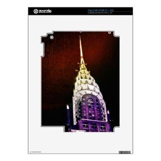 Chrysler que construye - púrpura y rojo - NYC iPad 2 Skins