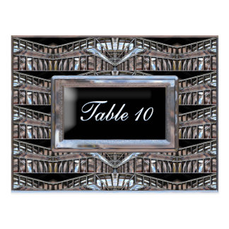 Chrysler Table Number Card