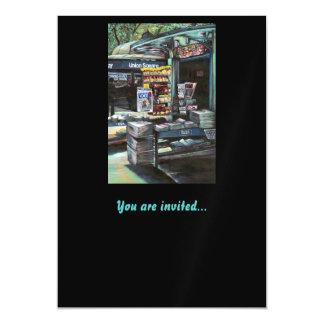 Chrysocolia Morning, Union Square, NYC Magnetic Invitations