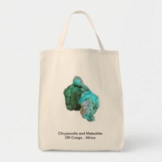 Chrysocolla precioso y malaquita de Congo Bolsa Tela Para La Compra