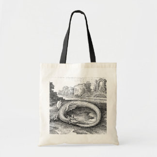 Chrysopoeia Ouroboros Serpent of Cleopatra Budget Tote Bag