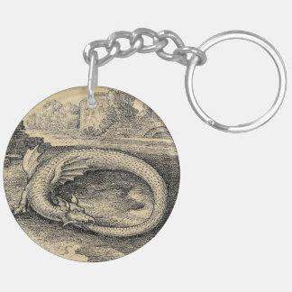 Chrysopoeia Ouroboros Serpent of Cleopatra Keychain