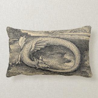 Chrysopoeia Ouroboros Serpent of Cleopatra Lumbar Pillow