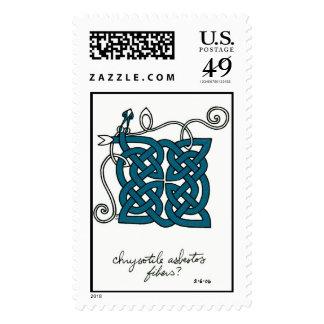 Chrysotile Asbestos Fibers stamp