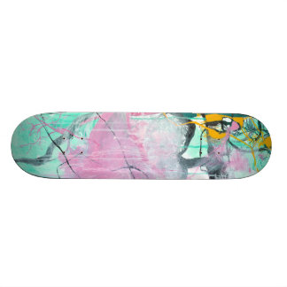 Chrystarium - pink abstract expressionism skateboard