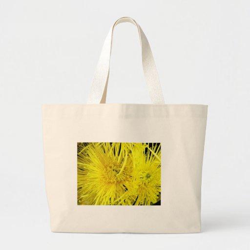 Chrysthanthemum amarillo bolsa tela grande