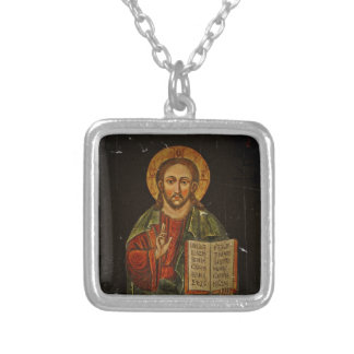 Chrystus Pantokrator Icon Jesus Personalized Necklace