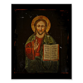 Chrystus Pantokrator Icon Jesus Posters