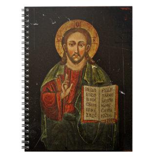 Chrystus Pantokrator Icon (Jesus) Spiral Notebook