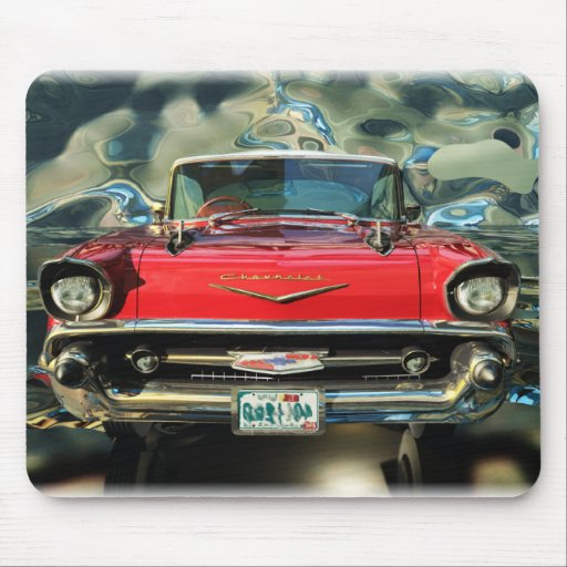 Chtome Chevrolet 1957 Front Mouse Mats