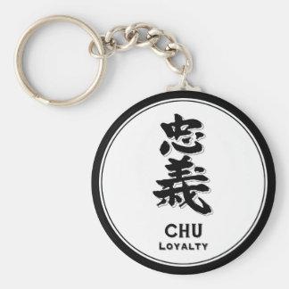 CHU Loyalty bushido virtue samurai kanji Basic Round Button Keychain