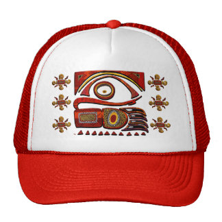 Chu Mtu African Folk Art Trucker Hat