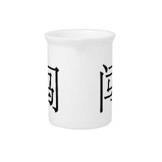 chuǎng - 闯 (precipitación) jarra para bebida