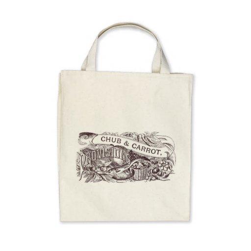 Chub & Carrot Provisions Vintage Artwork Canvas Bag
