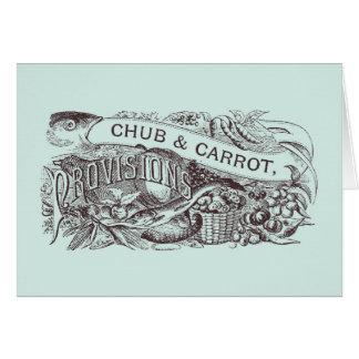 Chub & Carrot Provisions Vintage Artwork Card